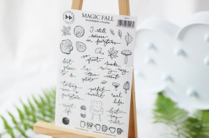 Magic Fall- transparent stickers