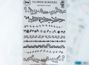 Flower borders - transparent stickers