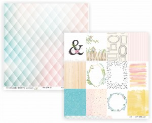 DAYDREAM - diamonds/cards  - scrapbook paper