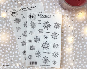 Snowflakes - transparent stickers