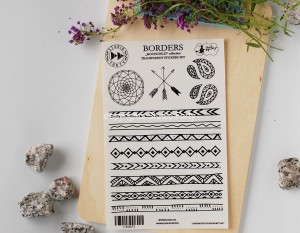 Borders - transparent stickers Moonchild collection