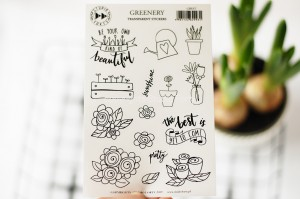Greenery  - transparent stickers