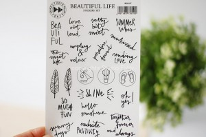 Beautiful Life - transparent stickers