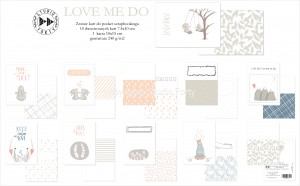 Love me do  - pocket scrapbooking cards