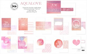 Aqualove - pocket scrapbooking cards