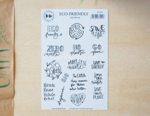 Eco-friendly - sticker set