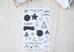 Winter stories- transparent stickers (english)