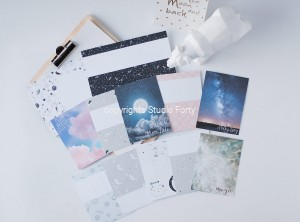 Astro Baby  - pocket scrapbooking cards