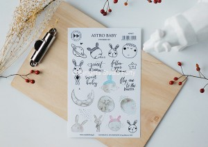 Astro Baby - sticker set ( english)