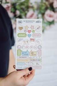 So Romantic - chipboard stickers set