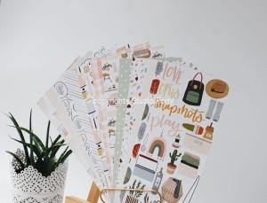 COZY TIME -Notebook edition-zestaw 12 papierów 10x21 cm /paper set of 12
