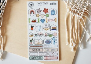 Cozy Time - chipboard stickers set