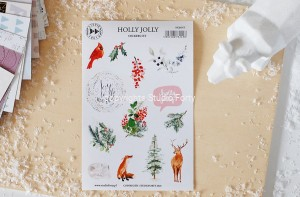 Holly jolly- sticker set