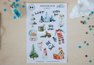 Winter fun - sticker set