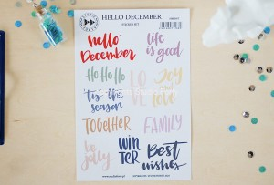 Hello december - sticker set (english)