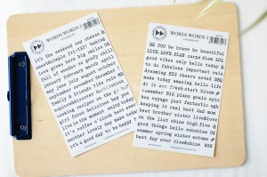 Words, words 2 - stickers set (2szt)