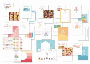 Let's party - pocket scrapbooking cards (set of 15)