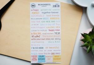 Wonderful - color sticker set ( english)