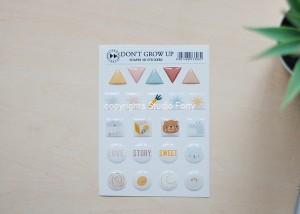 Don't grow up - 3D sticker set - shapes  / naklejki wypukłe- kształty
