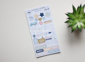 Journal Stories - chipboard stickers set