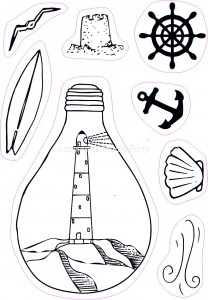 Marine bulb - stamp set#144