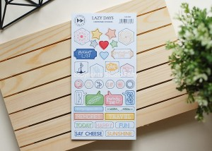Lazy Days - chipboard stickers set