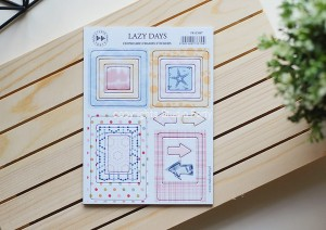 Lazy Days -Frames - chipboard stickers set