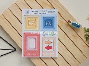 Story details -Frames - chipboard stickers set