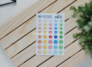 Lazy Days- 3D sticker set -dots / naklejki wypukłe- kropki