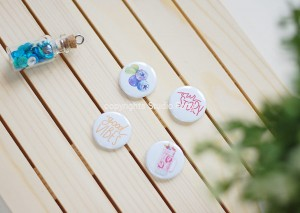 Lazy Days- set of 4 badges
