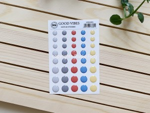 Good vibes- 3D sticker set -dots / naklejki wypukłe- kropki