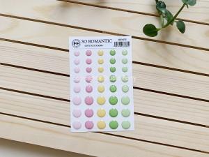 So romantic- 3D sticker set -dots / naklejki wypukłe- kropki