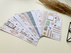 HERBARIUM-Notebook edition-zestaw 18 papierów 10x21 cm /paper set of 18