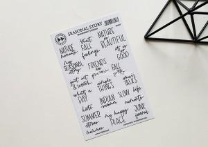 Seasonal story - transparent stickers (english)