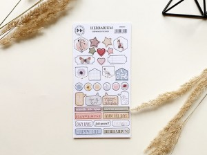 Herbarium - chipboard stickers set