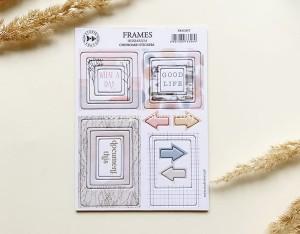 Herbarium-Frames - chipboard stickers set