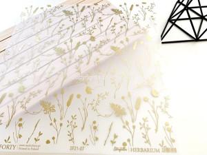 Herbarium 07 - vellum paper / kalka wzorzysta