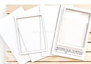 Herbarium-baza albumu - zestaw tekturek/set of light chipboard album base