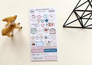 Frosty season - chipboard stickers set