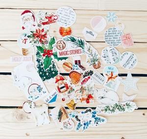 Frosty season- paper die cut elements