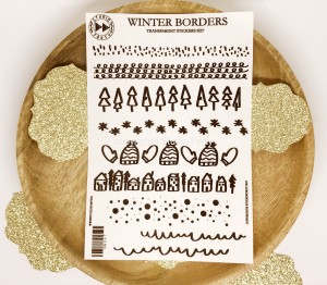 Winter borders - transparent stickers