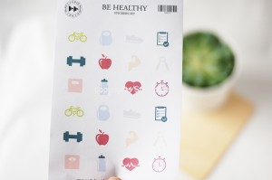 Be Healthy- planner sticker set
