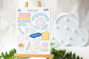Magic Fall - chipboard sticker set