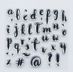 """Alphabet brush"" - stamp set #11"
