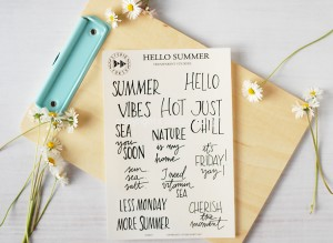 Hello Summer - transparent stickers