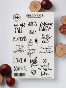 Hello Fall - transparent stickers